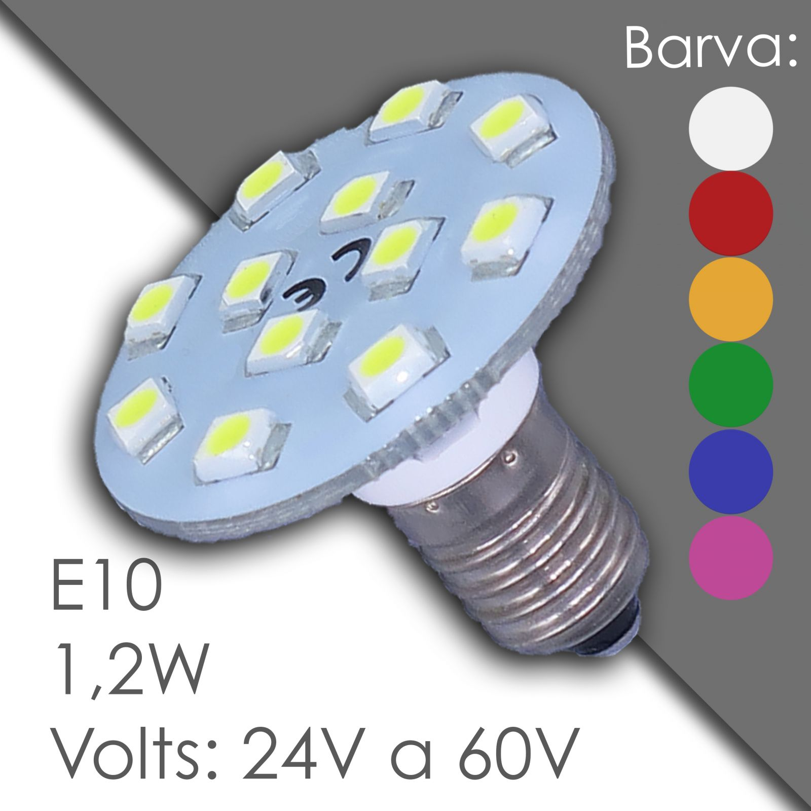 Led E10 24V a 60V, waterproof, in resin