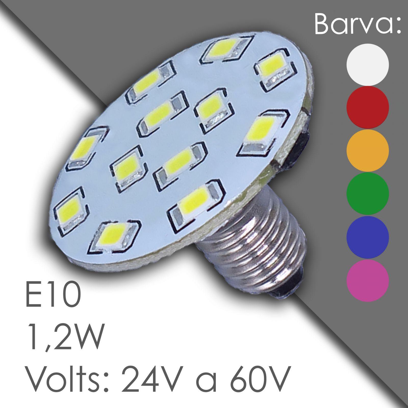 Led E10 - AC 24V, 60V, waterproof, in rubber