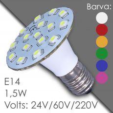 Led E14 - AC 24V, 60V, 220V, in resin