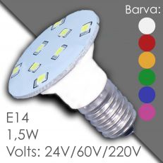 Led E14 - AC 24V, 60V, 220V, waterproof, in rubber