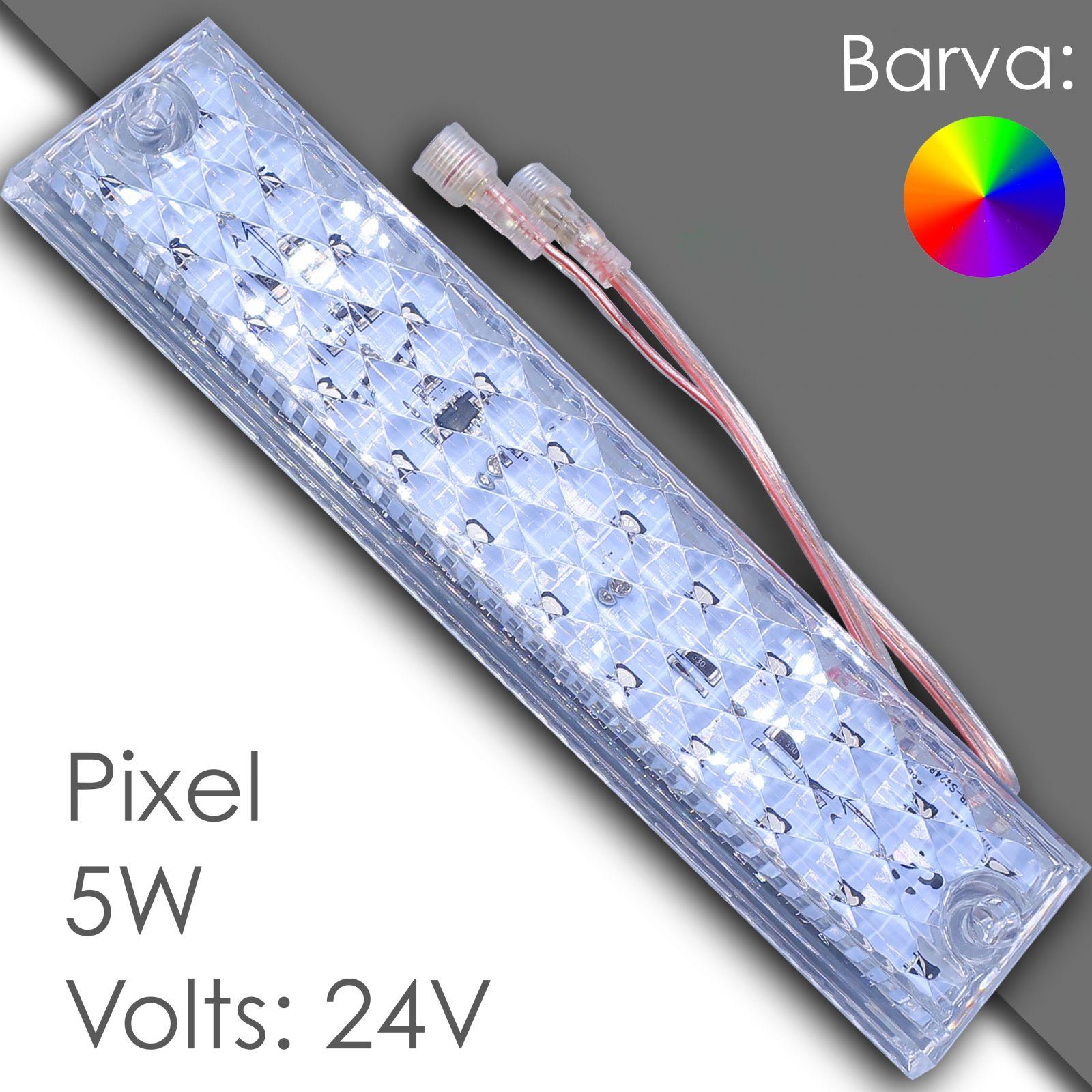 Led pixel rgb 250mm programmable, waterproof