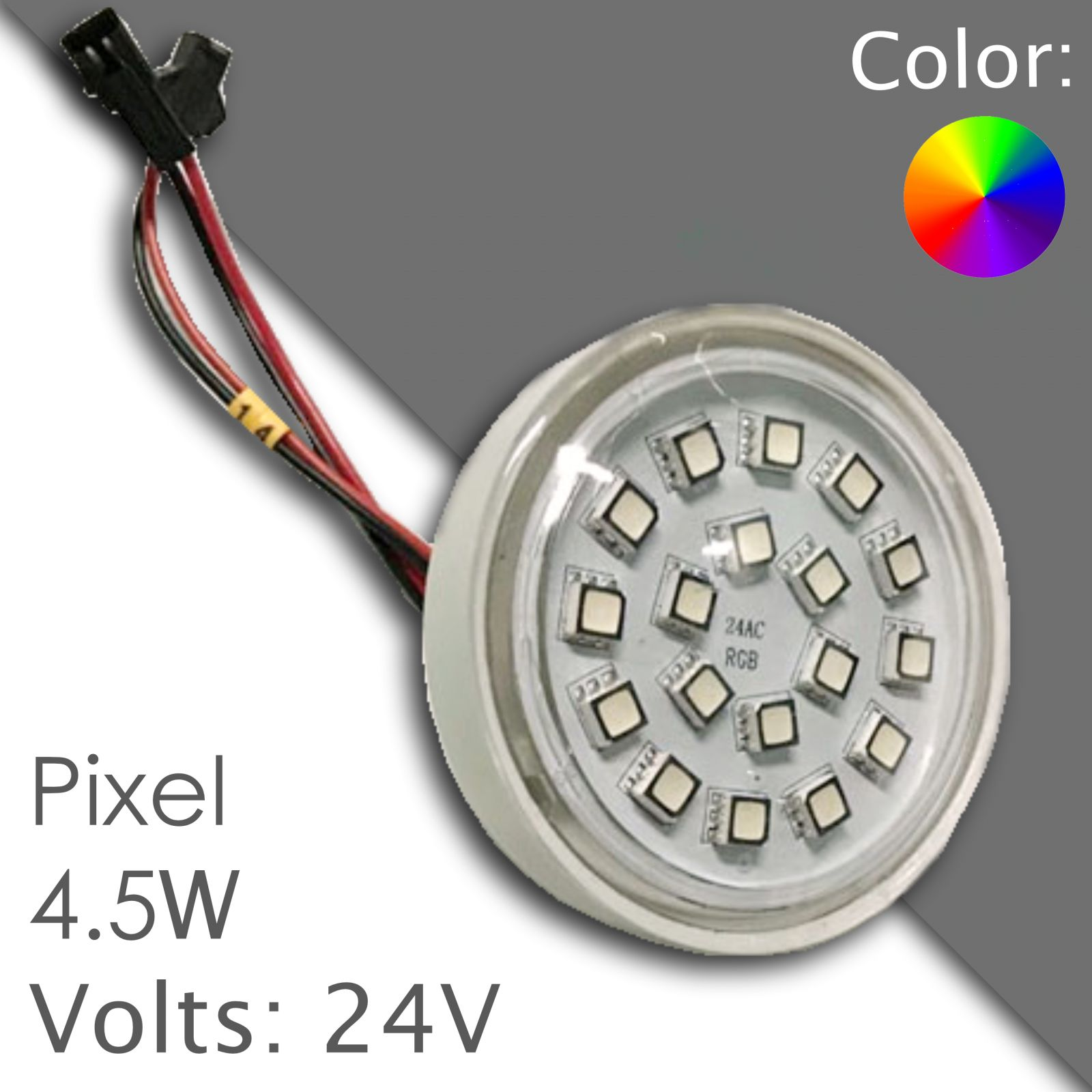 Led pixel rgb 60mm programmable, waterproof