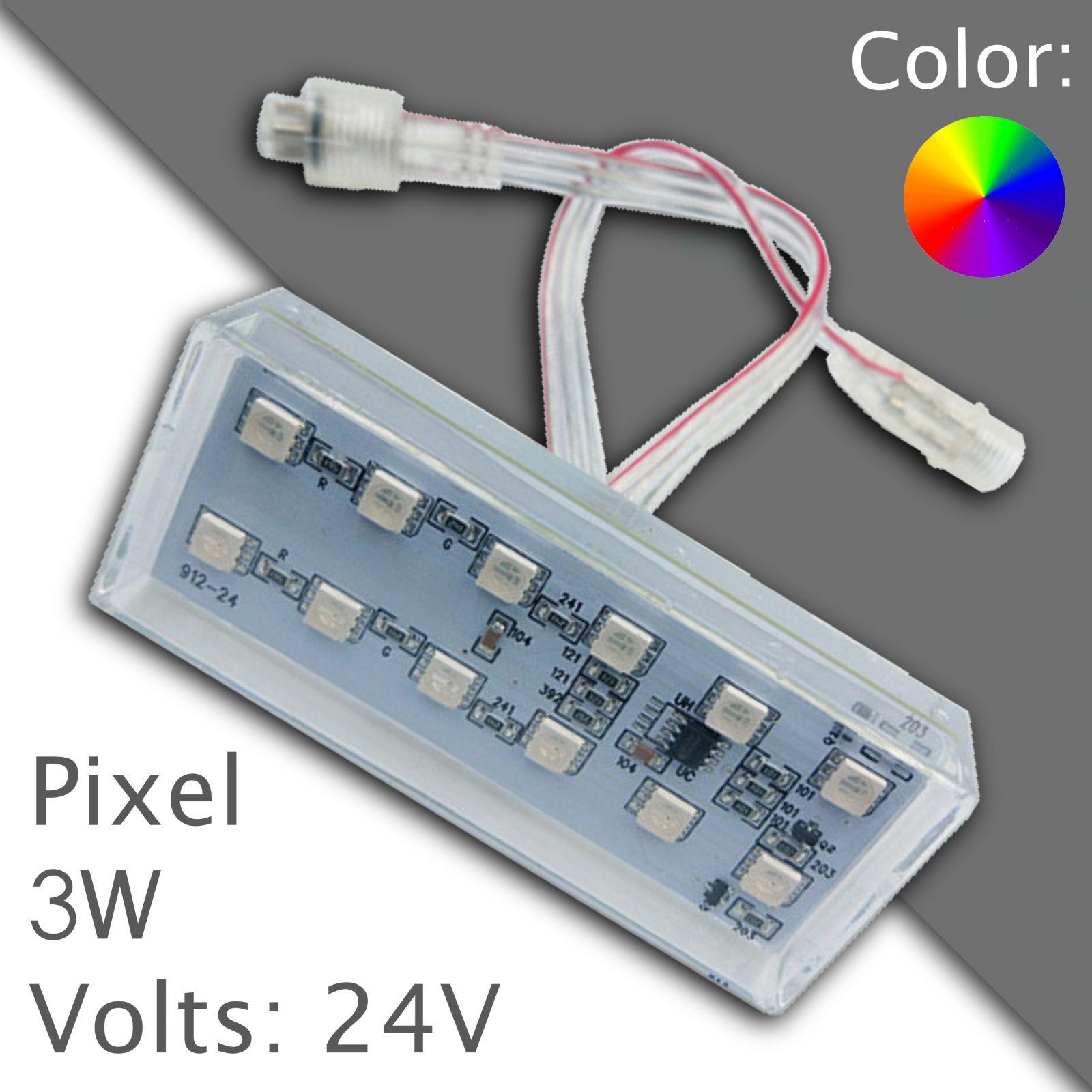Led pixel rgb 90mm programmable, waterproof