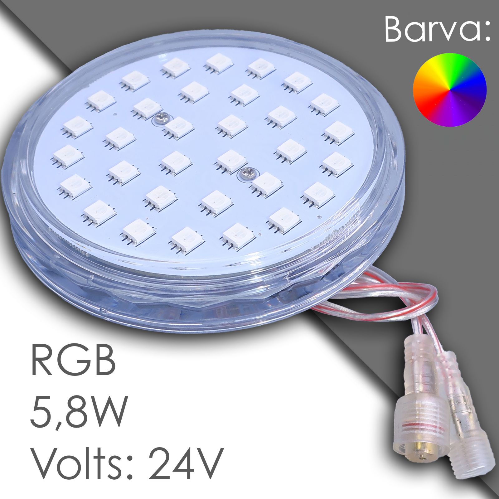 Led RGB 100mm automatic, waterproof