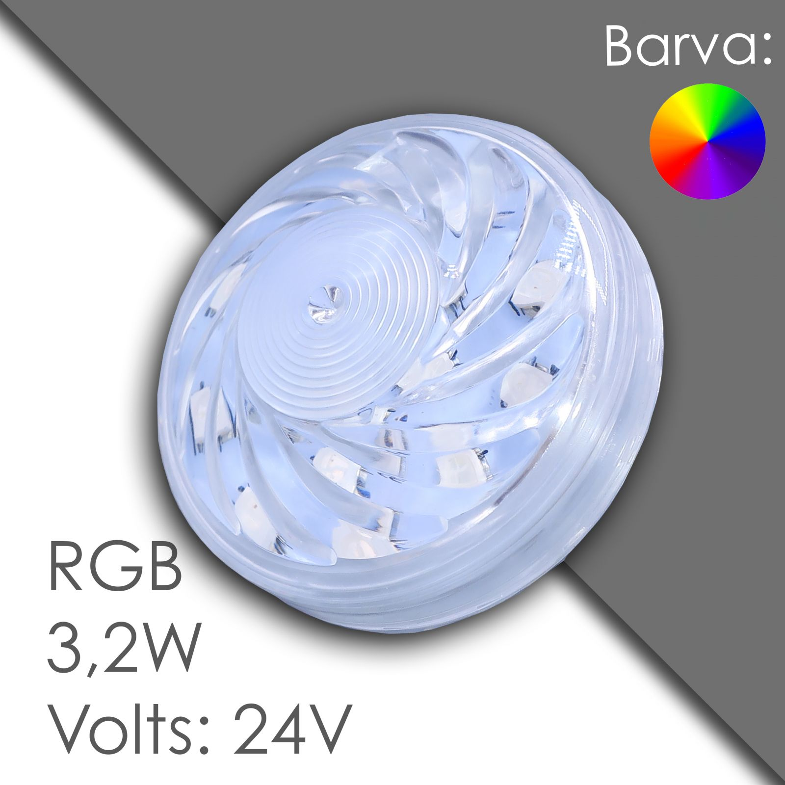 Led RGB 60mm automatic, waterproof